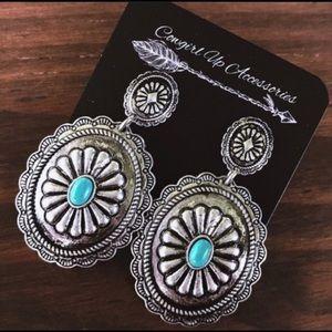 Jewelry - Silver Concho Earrings